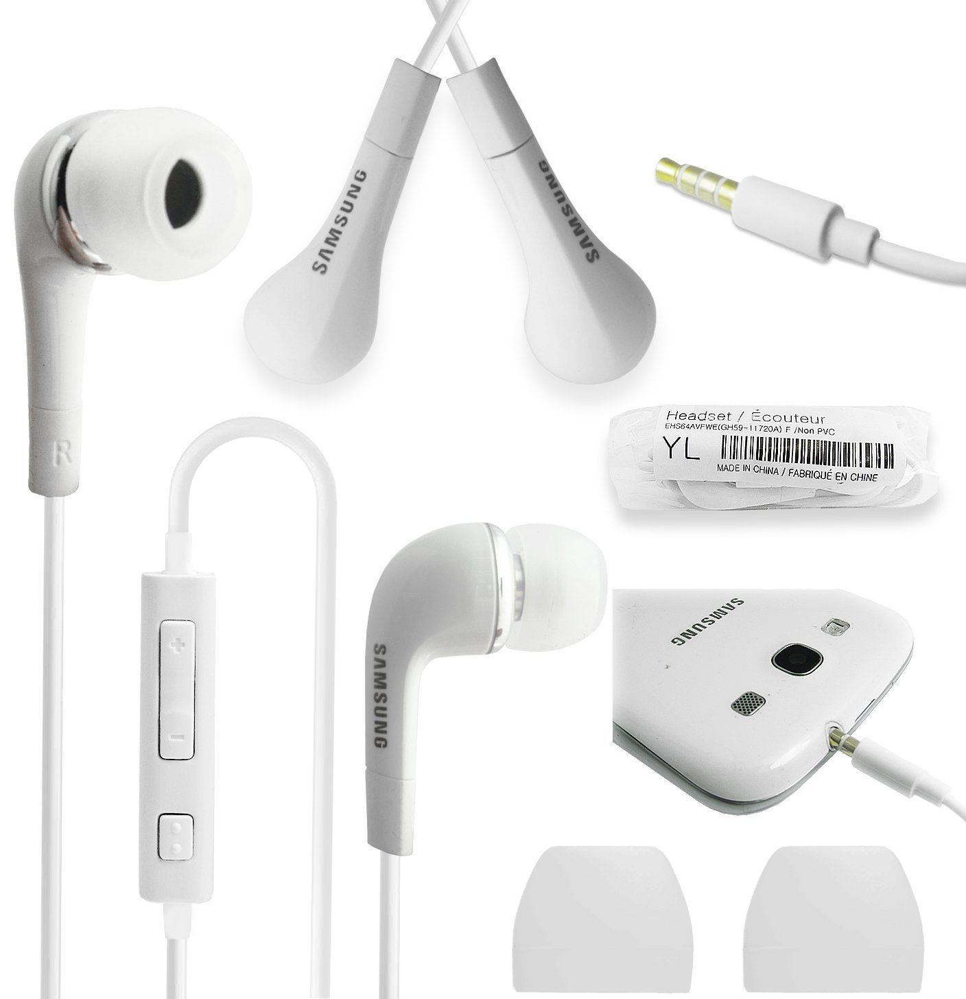 Samsung EHS64AVFWEIn Ear Headset with Volume Control for SmartphonesWhite